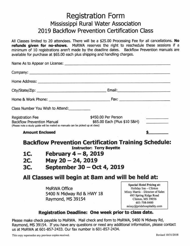 Backflow Certification
